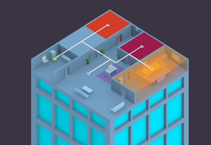 Comme la plupart des SSS, celui de Majorcom prévoit dans son plan d'évacuation d'indiquer des messages préenregistrés adaptés à chaque zone. © Majorcom
