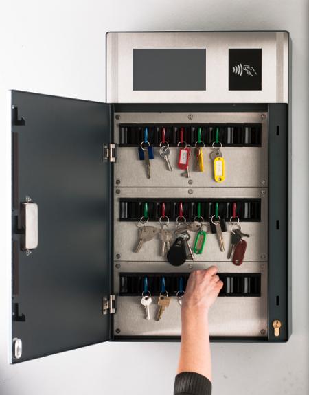 L'armoire à clés communicante est la dernière création de Cogélec. © Cogélec