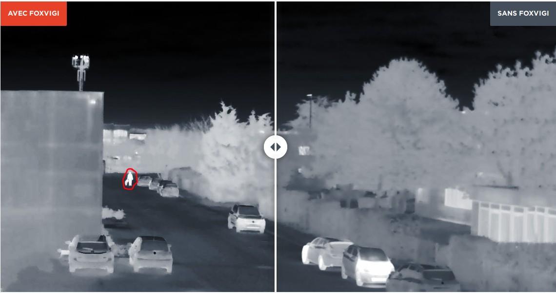 FoxVigi détecte sur plusieurs centaines de mètres les intrus avec un faible taux de fausses alarmes. ©Foxstream