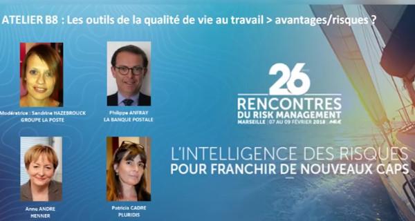 La Banque Postale est intervenue aux 26èmes rencontres de l'Amrae en février dernier à Paris. © DR