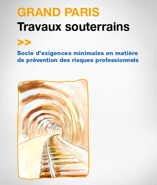 Un guide a été conçu à l'occasion des travaux du Grand Paris Express. © Assurance Maladie