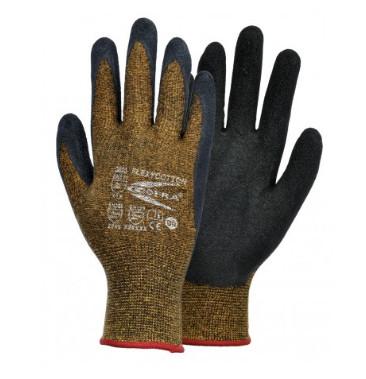 Ce gant en latex comporte une doublure en coton pour assurer un bon confort thermique. © Cofra