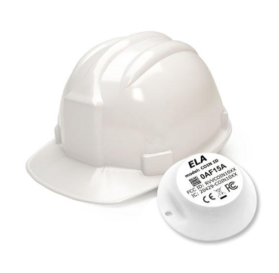 La puce intégrée au casque est lue à la volée par des lecteurs. © Ela Innovation