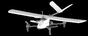 Vue du drone Heliplane de Drone Volt