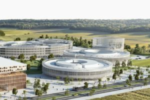 Le campus Paris-Saclay regroupe de nombreuses entreprises comme le quartier Polytechnique - EDF Lab Paris visible sur l'image.