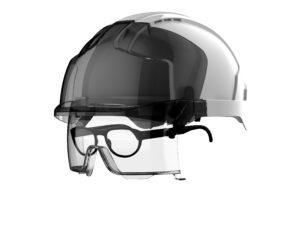 Casque de sécurité intégrant des lunettes