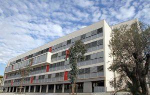 Vue du lycée les Eucalyptus à Nice