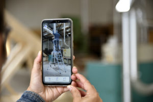 Ecran de smartphone montrant une application de réalité virtuelle