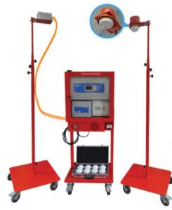 La solution Firemob repose sur une centrale et des détecteurs et émetteurs radio