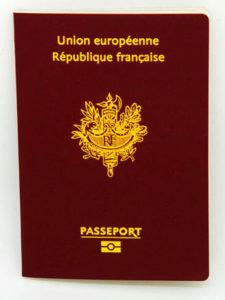 Image d'un passeport biométrique.