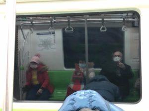 Un entrepreneur français dans le métro à Pékin.