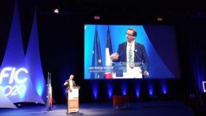 Photo de Jean-Noël de Galzain, président d'Hexatrust eu FIC 2020.