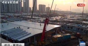 Suivi en temps réel de la construction du second hôpital à Wuhan.
