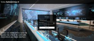 Capture d'écran de la salle de crise proposée par Resiliency