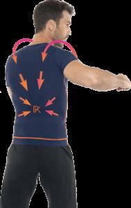 Ce T-shirt développé par Percko permet de garder le dos bien droit.