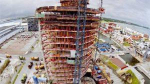 Vue du chantier d'une tour.