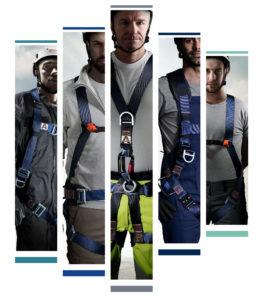 La nouvelle gamme de protection anti-chute dispose de cinq nouveaux harnais de sécurité.