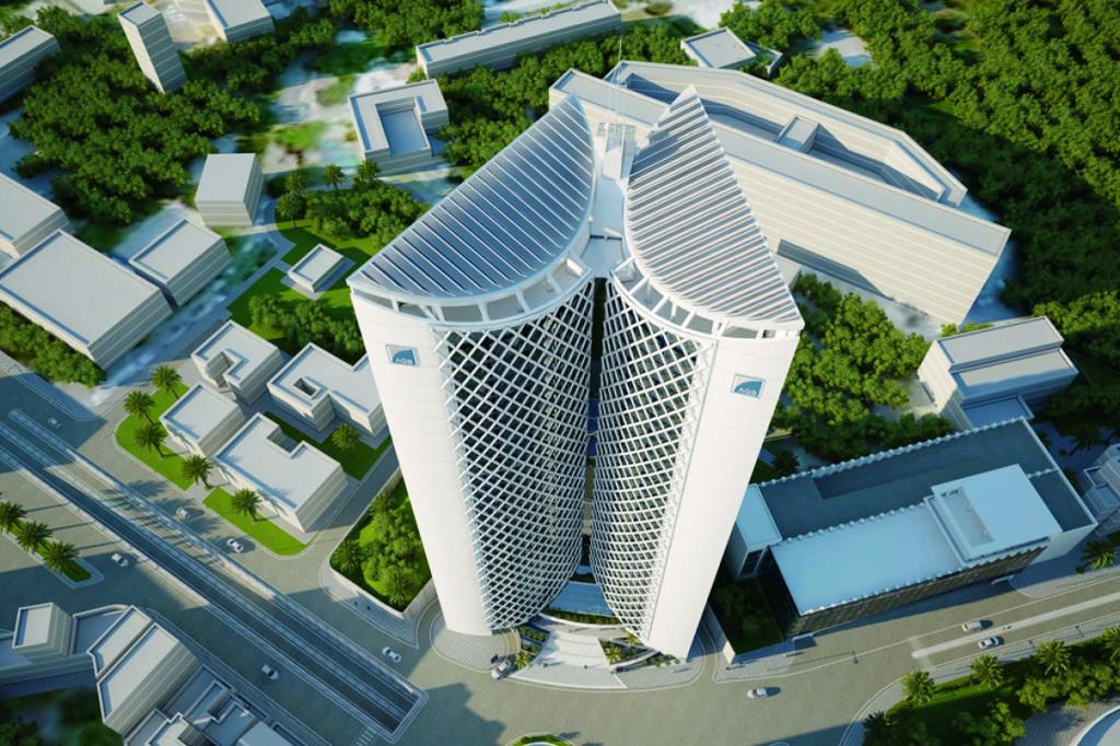 le-nouveau-siege-d-agb-forme-une-vaste-structure-de-25-etages